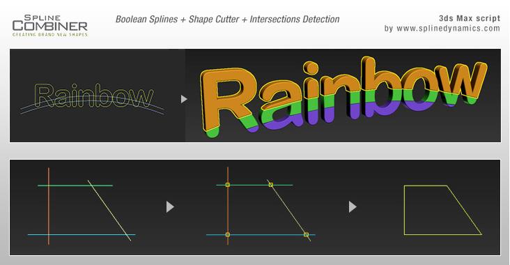 Spline Combiner 3dsmax script by SplineDynamics.com