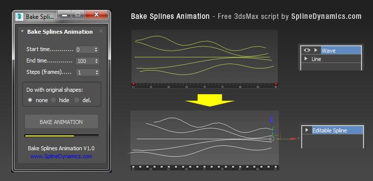 Bake Splines Animation | ScriptSpot
