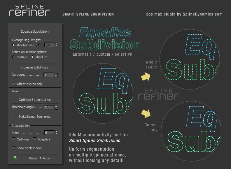 Spline Refiner 3dsmax script by SplineDynamics.com