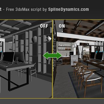 Show Textures 3dsMax script | Spline Dynamics