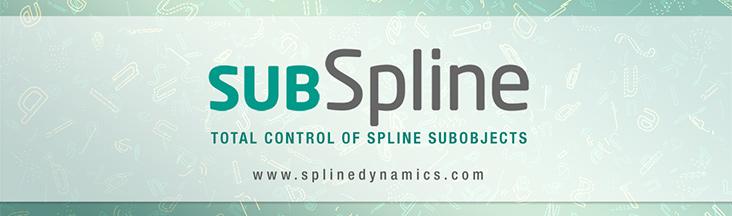 SubSpline 3dsmax script - banner