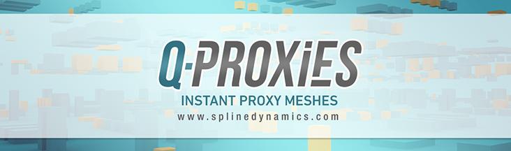 Q-Proxies 3dsmax plugin - banner