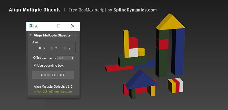 Align Multiple Objects - 3dsmax script